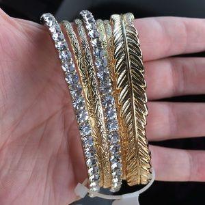 Torrid Gold Bracelet Bundle NWT